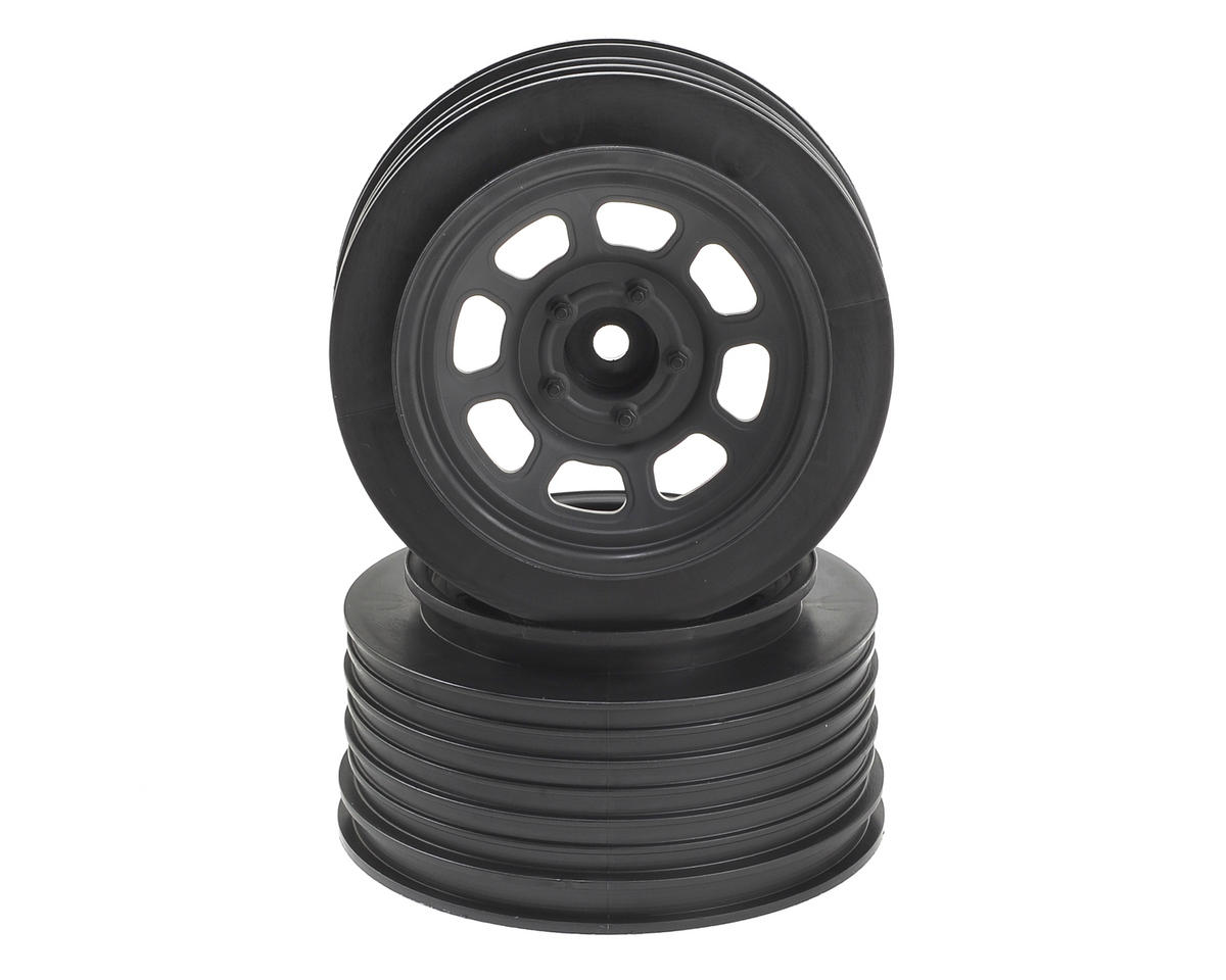 DE Racing Speedway SC Short Course Dirt Oval Wheels (Black) (2) (19mm Backspace)