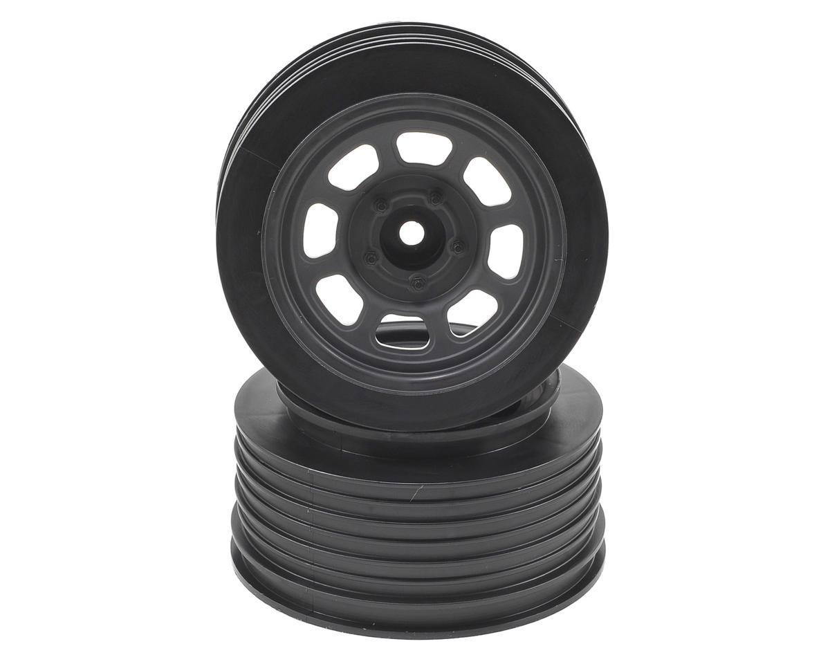 DE Racing Speedway Short Course Wheels (Black) (2) (21.5mm Backspace) (Traxxas Slash)