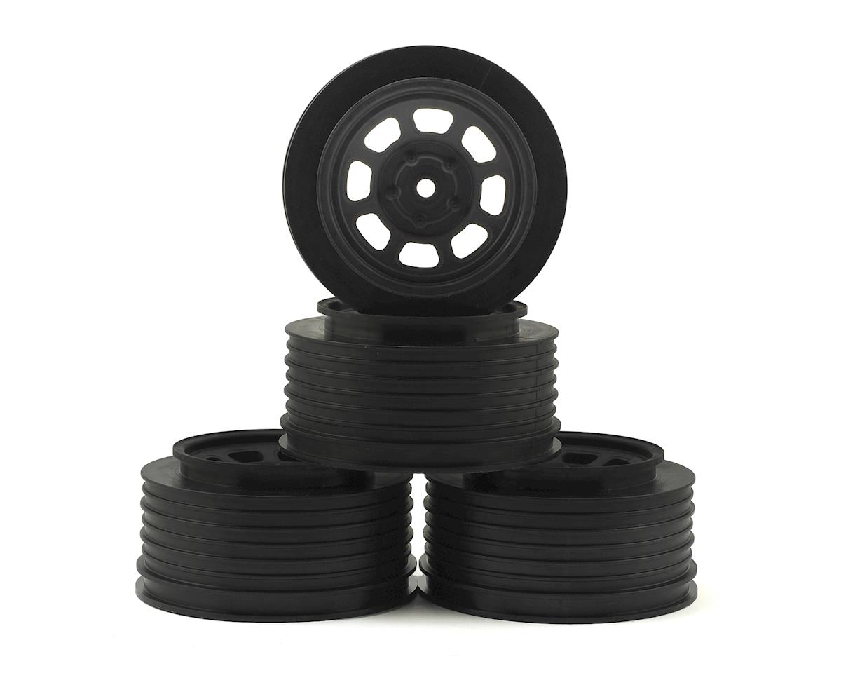DE Racing Speedway SC Dirt Oval Wheels (Black) (4) (+3mm Offset/29mm Backspace) (Team Associated SC10)