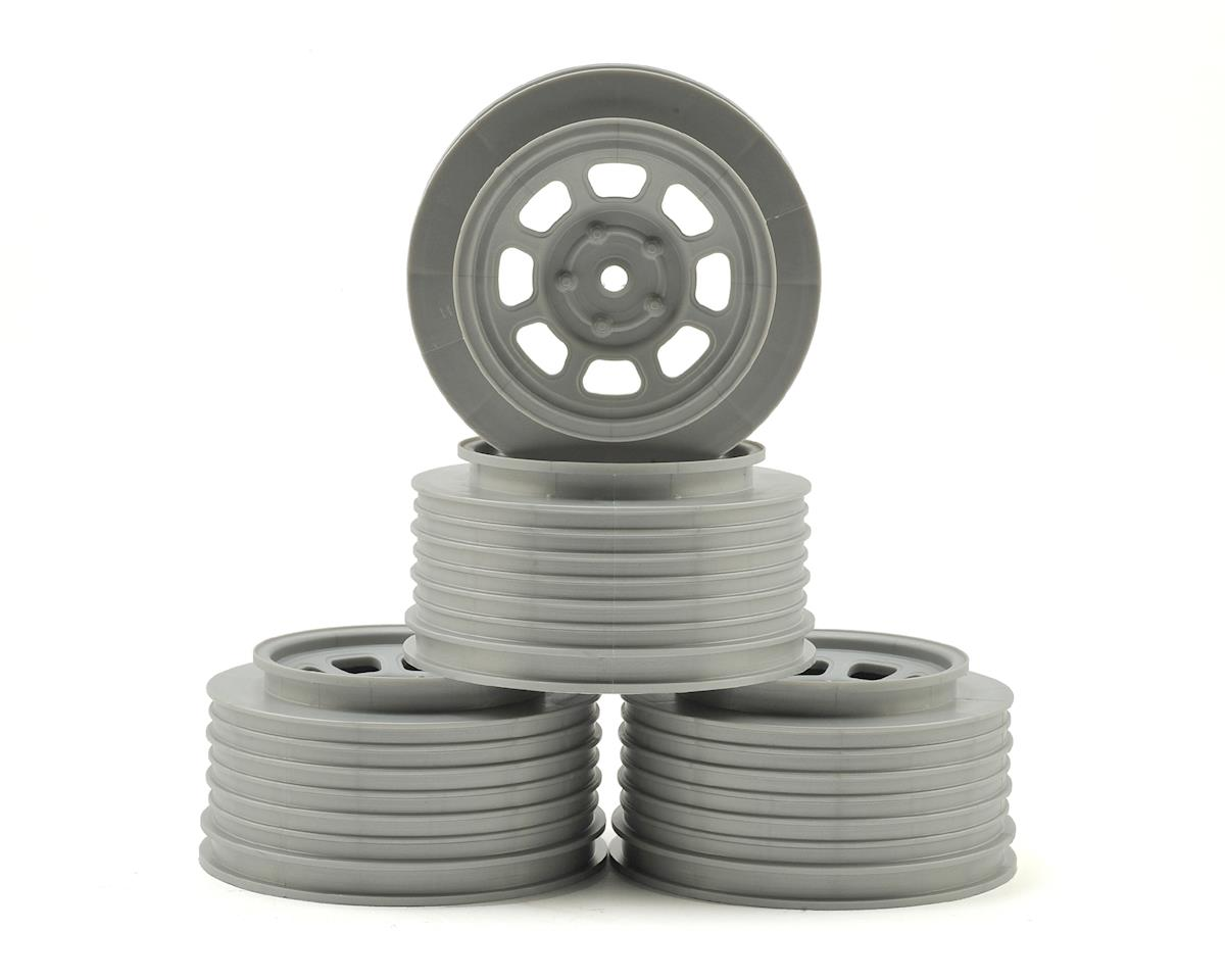 DE Racing Speedway SC Dirt Oval Wheels (Silver) (4) (+3mm Offset/29mm Backspace)