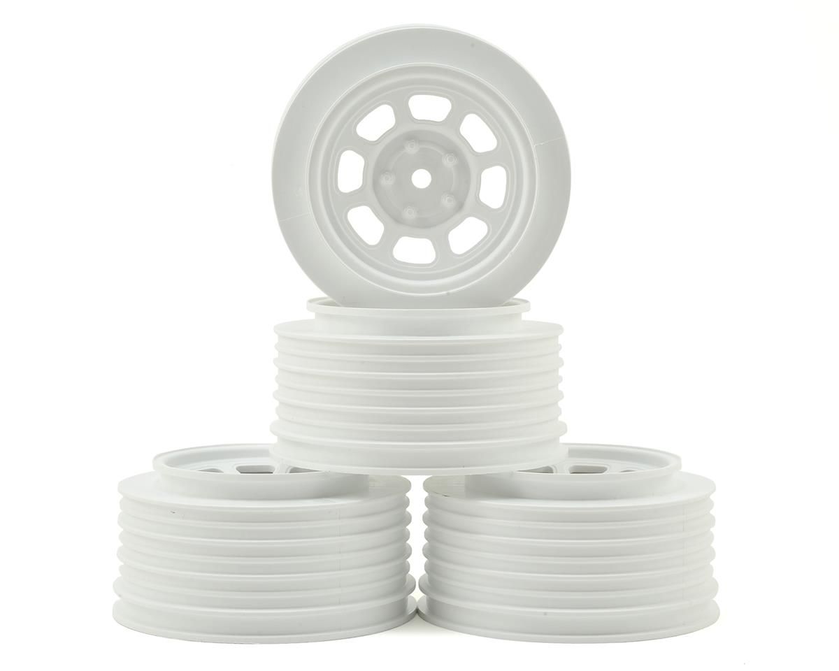 DE Racing Speedway SC Dirt Oval Wheels (White) (4) (+3mm Offset/29mm Backspace)