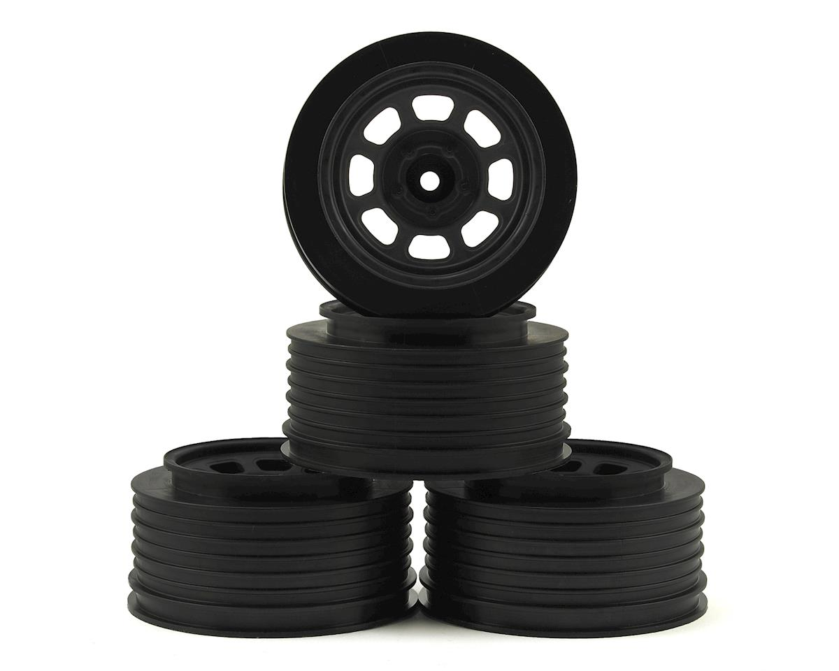 DE Racing Speedway SC Short Course Dirt Oval Wheels (Black) (4) (19mm Backspace)