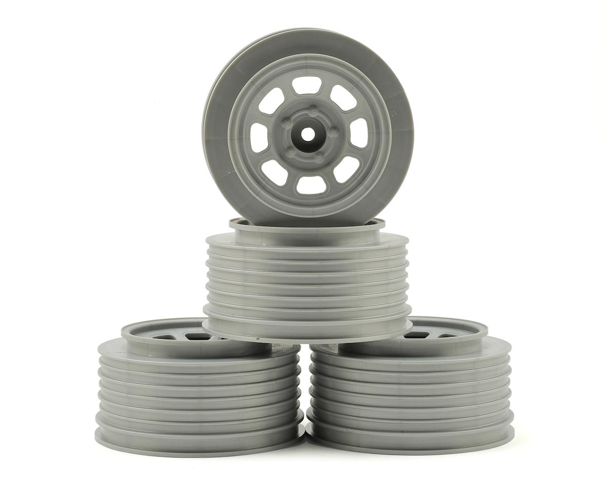 DE Racing Speedway SC Short Course Dirt Oval Wheels (Silve) (4) (19mm Backspace)
