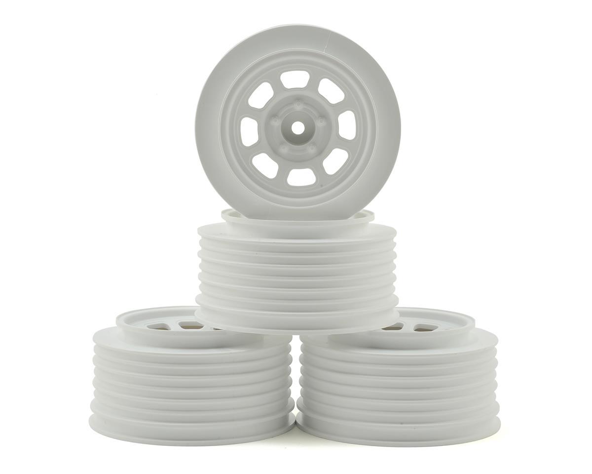 DE Racing Speedway SC Short Course Dirt Oval Wheels (White) (4) (19mm Backspace)