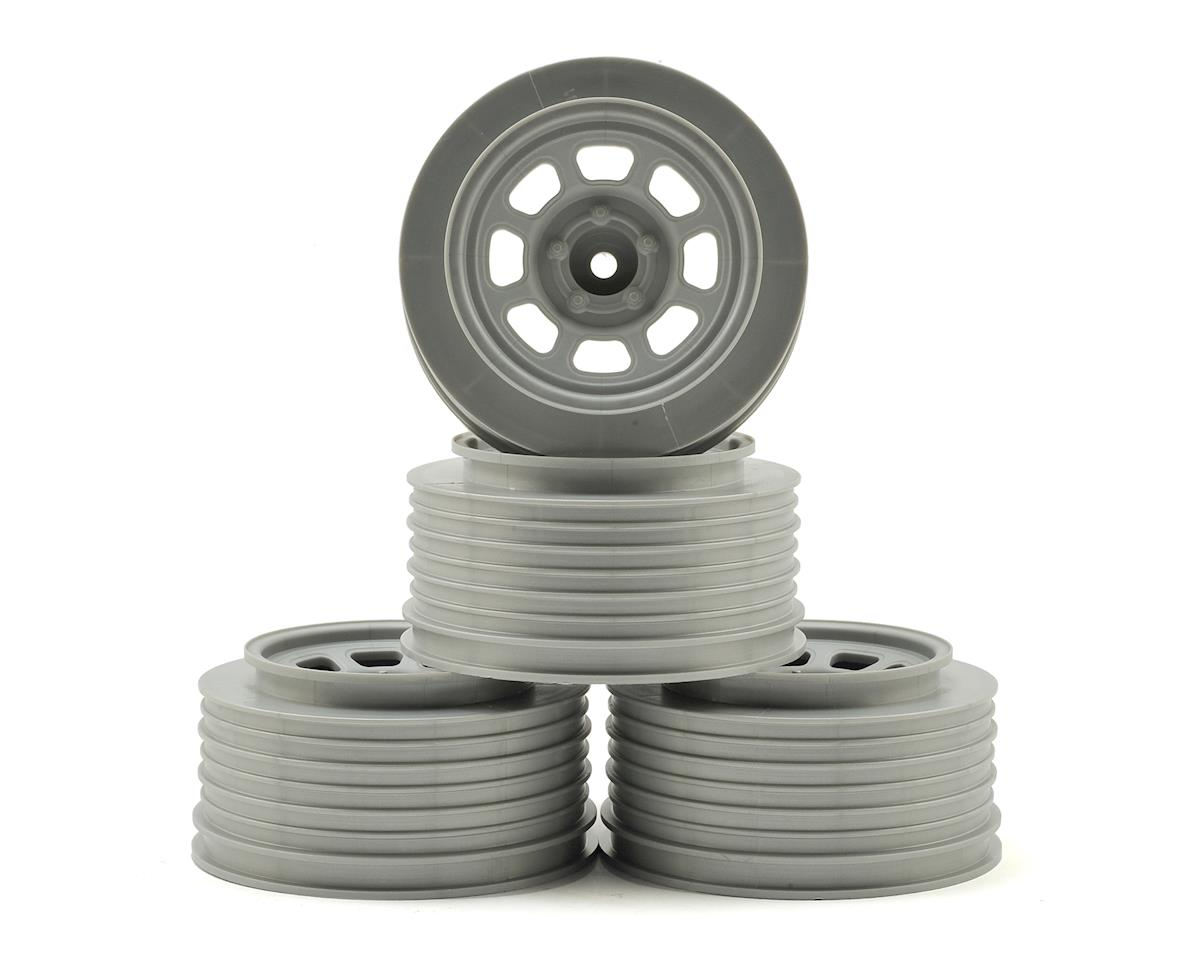 DE Racing Speedway Short Course Wheels (Silver) (4) (21.5mm Backspace) (Traxxas Rally)