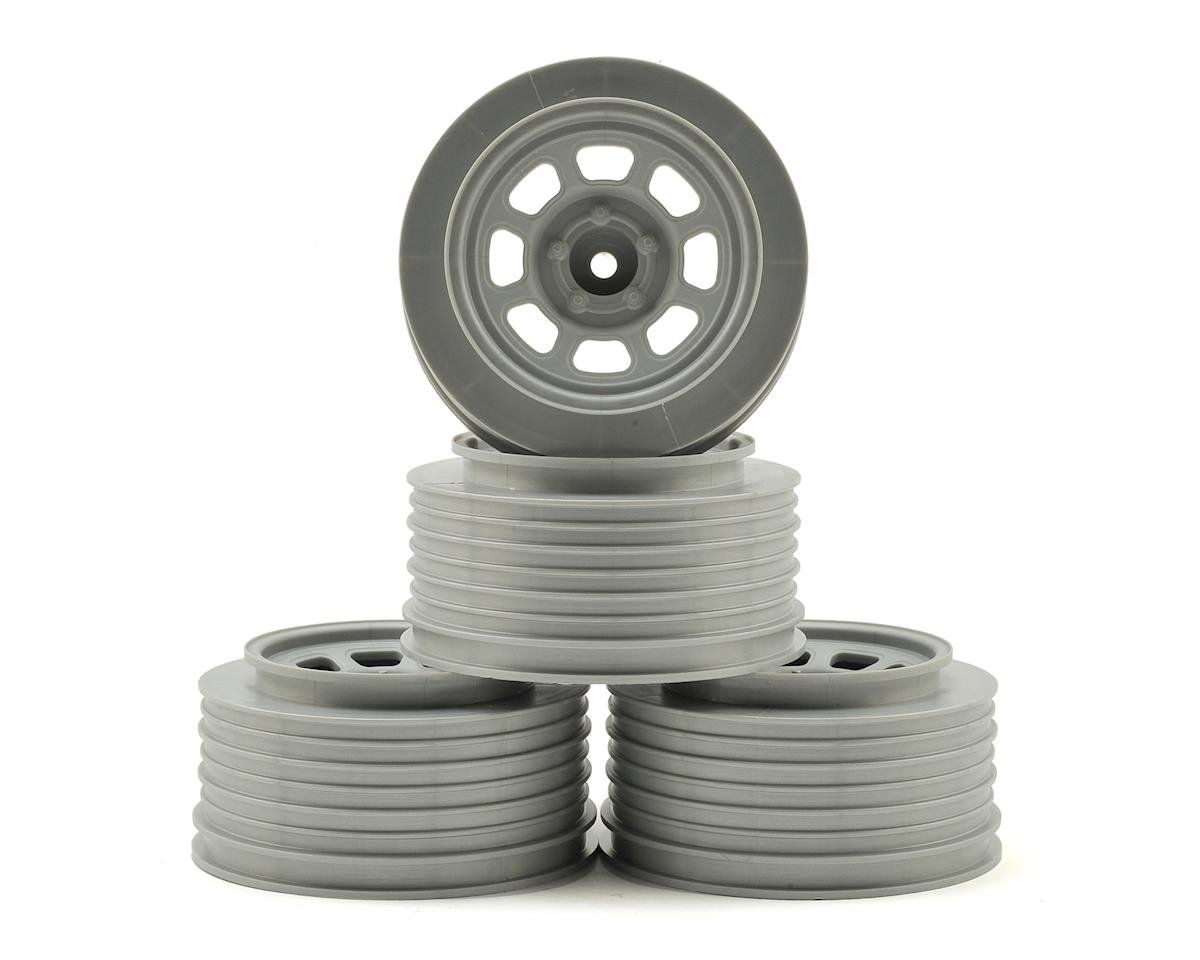 DE Racing Speedway Short Course Wheels (Silver) (4) (21.5mm Backspace) (HPI Blitz)