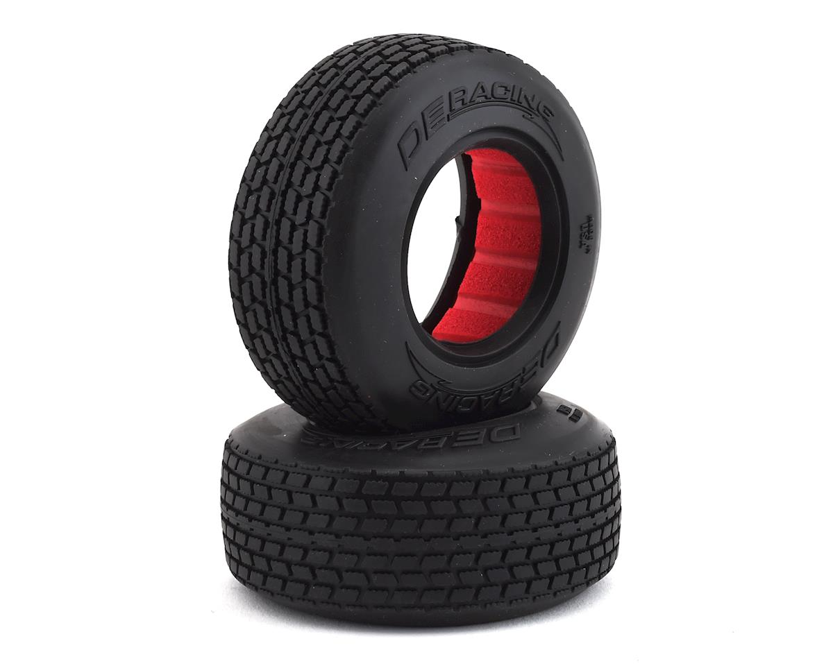 DE Racing Mini G6T Modified Street Stock Front Tires (2) (Clay)