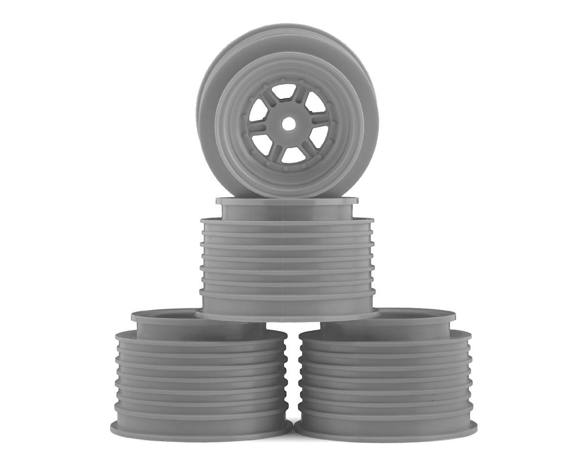DE Racing Gambler Rear Late Model Wheels (AE/TLR) (Silver)