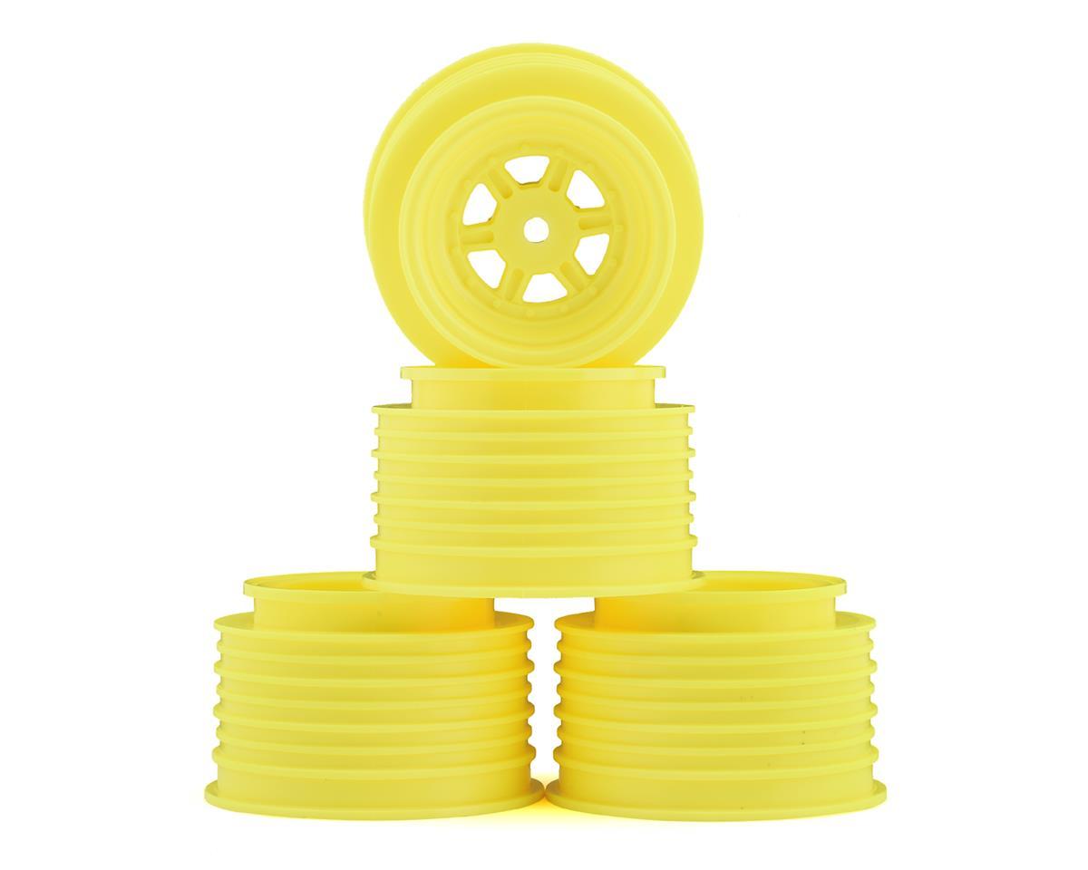 DE Racing Gambler Rear Late Model Wheels (AE/TLR) (Yellow)