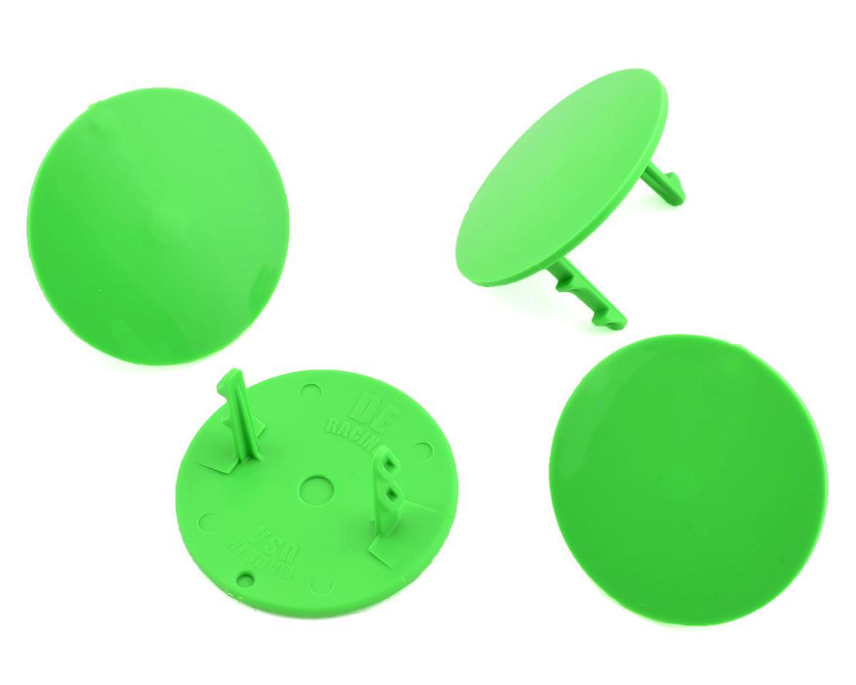 DE Racing Gambler Dirt Oval Mud Plugs (Green) (4)