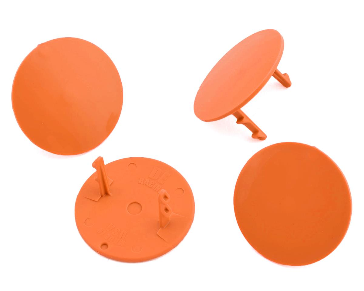 DE Racing Gambler Dirt Oval Mud Plugs (Orange) (4)