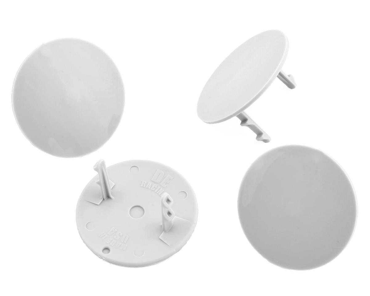DE Racing Gambler Dirt Oval Mud Plugs (White) (4)