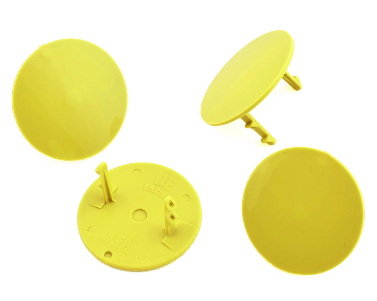 DE Racing Gambler Dirt Oval Mud Plugs (Yellow) (4)
