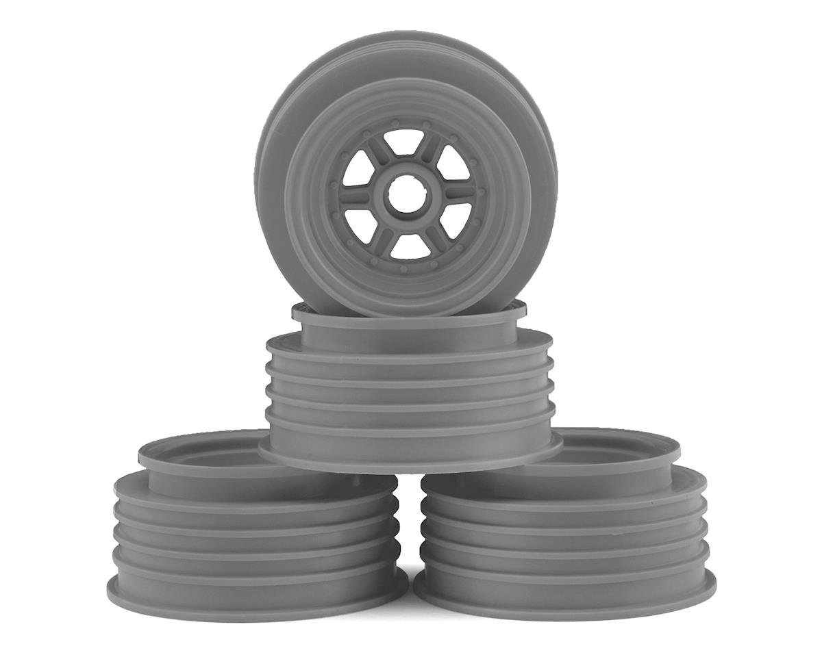 "DE Racing Gambler 3/8"" Bearing Front Wheels (Custom Works/GFRP) (Silver)"