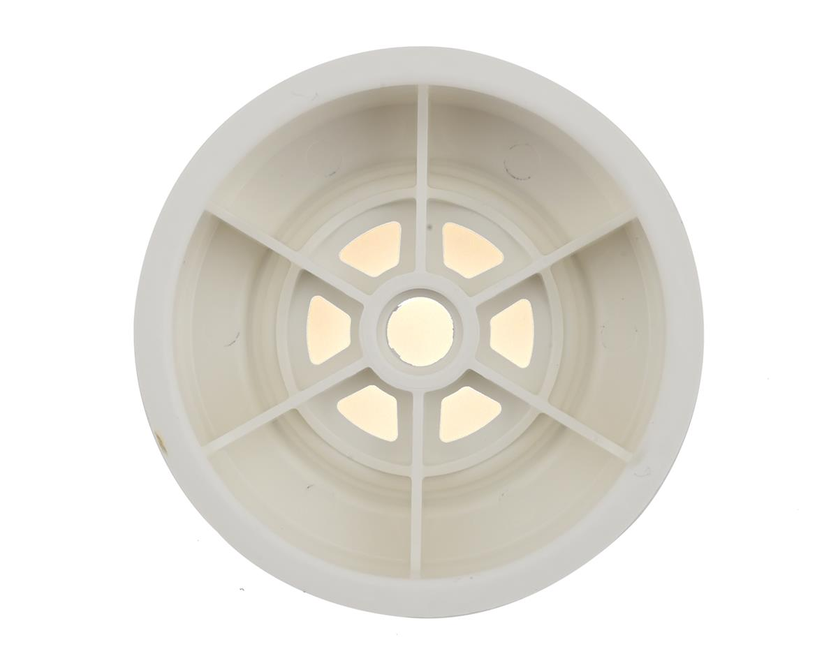 "DE Racing Gambler 3/8"" Bearing Front Wheels (Custom Works/GFRP) (White)"