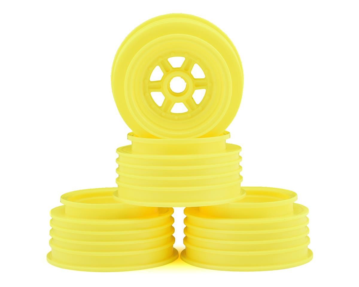 "DE Racing Gambler 3/8"" Bearing Front Wheels (Custom Works/GFRP) (Yellow)"