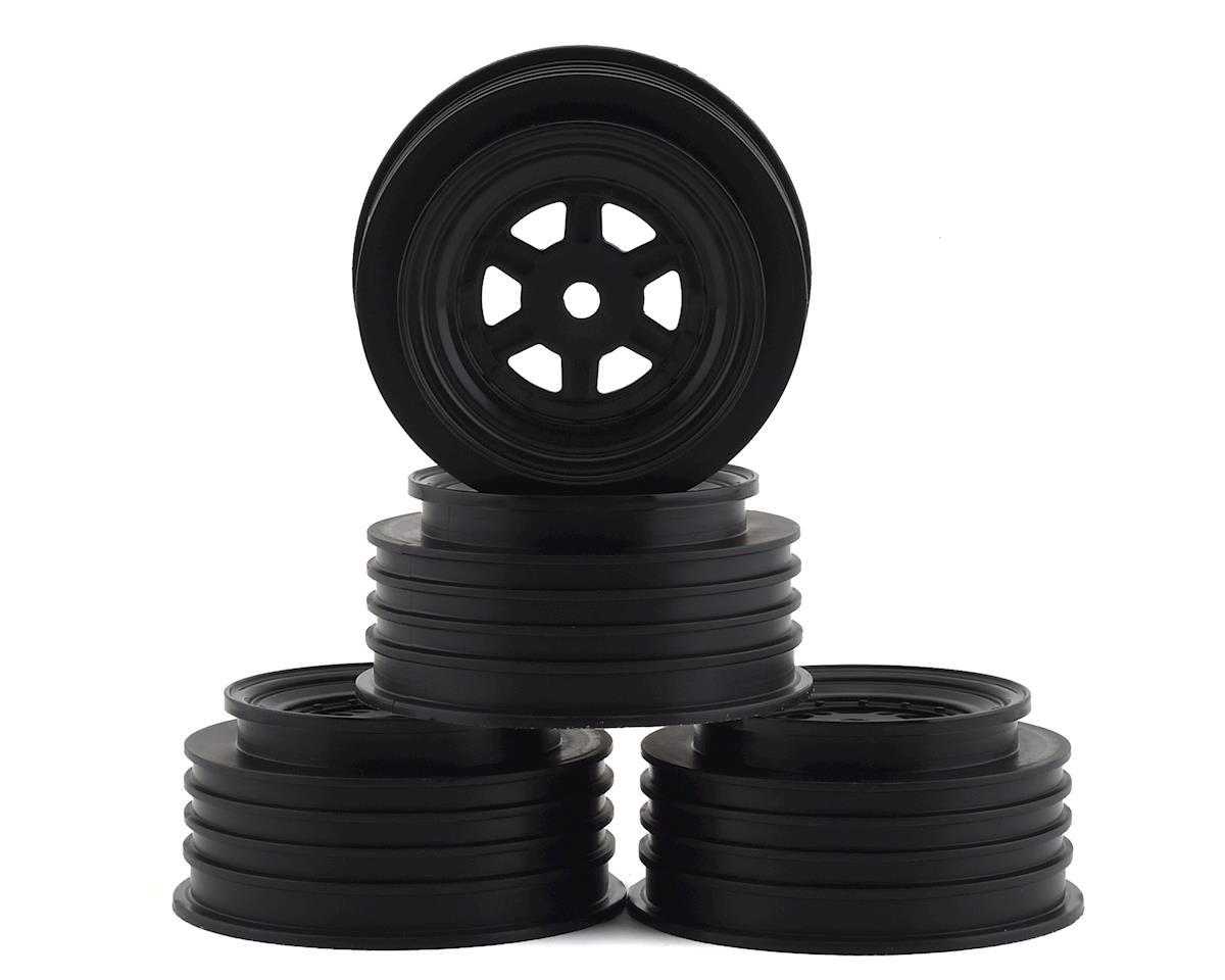 DE Racing Gambler Front Wheels (TLR Offset) (Black)