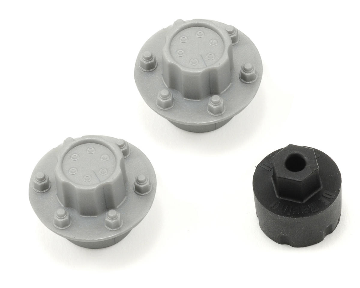 DE Racing Hub Nutz (Silver) (2) (Pro-Line Slash/Blitz Rear)
