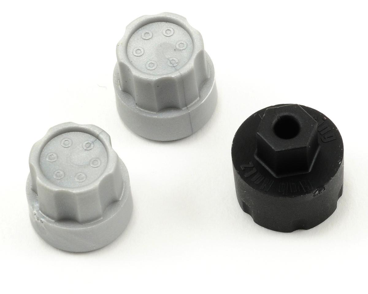 DE Racing Hub Nutz (Silver) (2) (Slash 4x4/Blitz/Ultima-SC/SCRT-10)