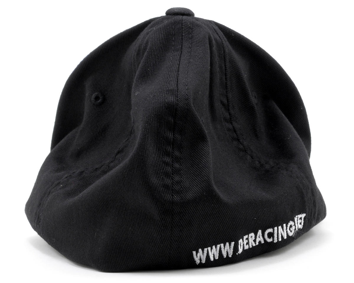 DE Racing Black Flexfit Baseball Cap (Black) (L/XL)