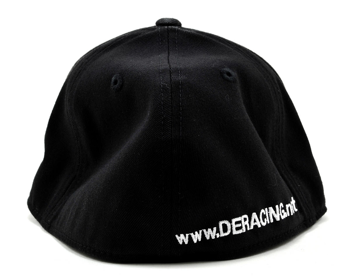 "DE Racing Logo ""Flatbill"" FlexFit Cap (Black) (L/XL)"