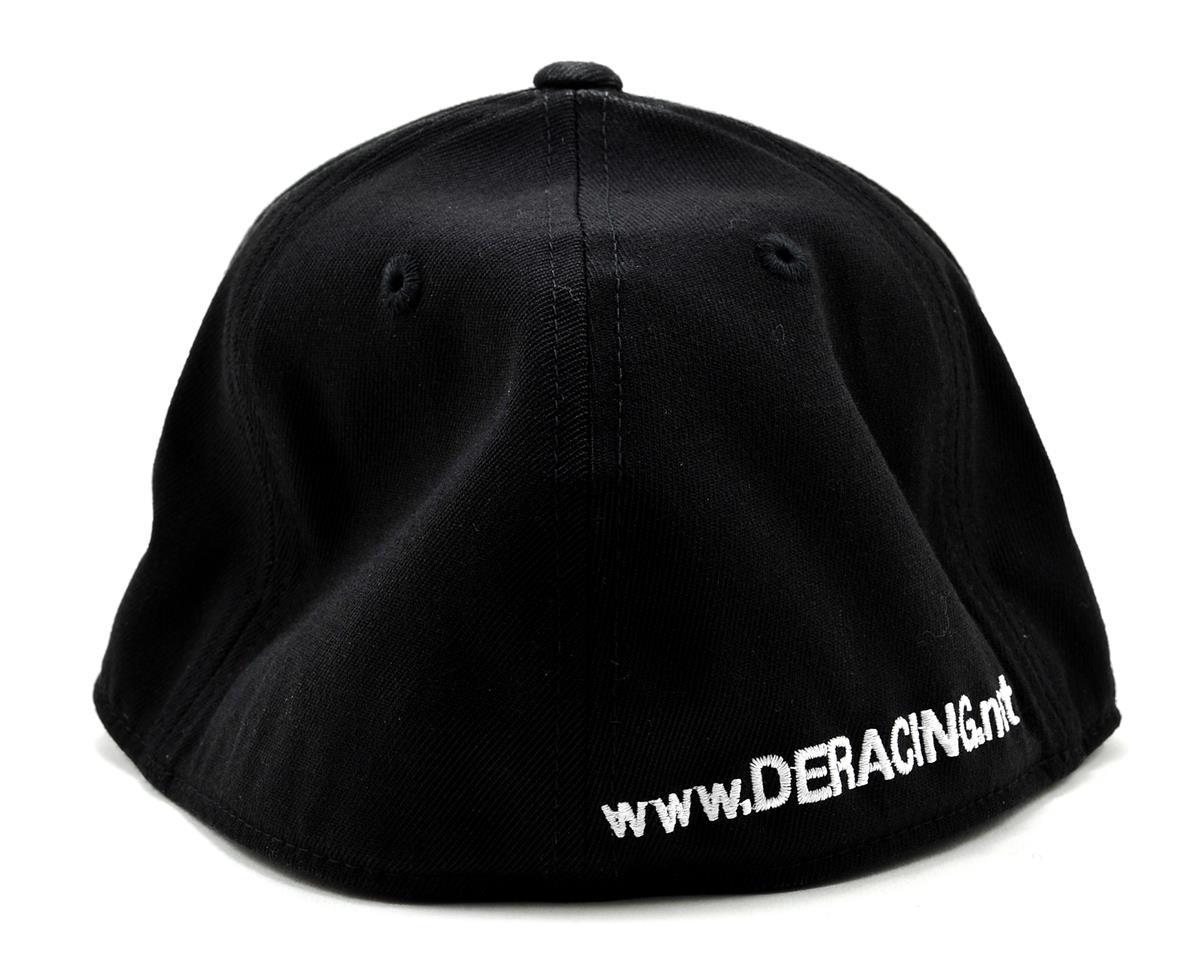"""DE Racing Logo """"Flatbill"""" FlexFit Cap (Black) (S/M)"""