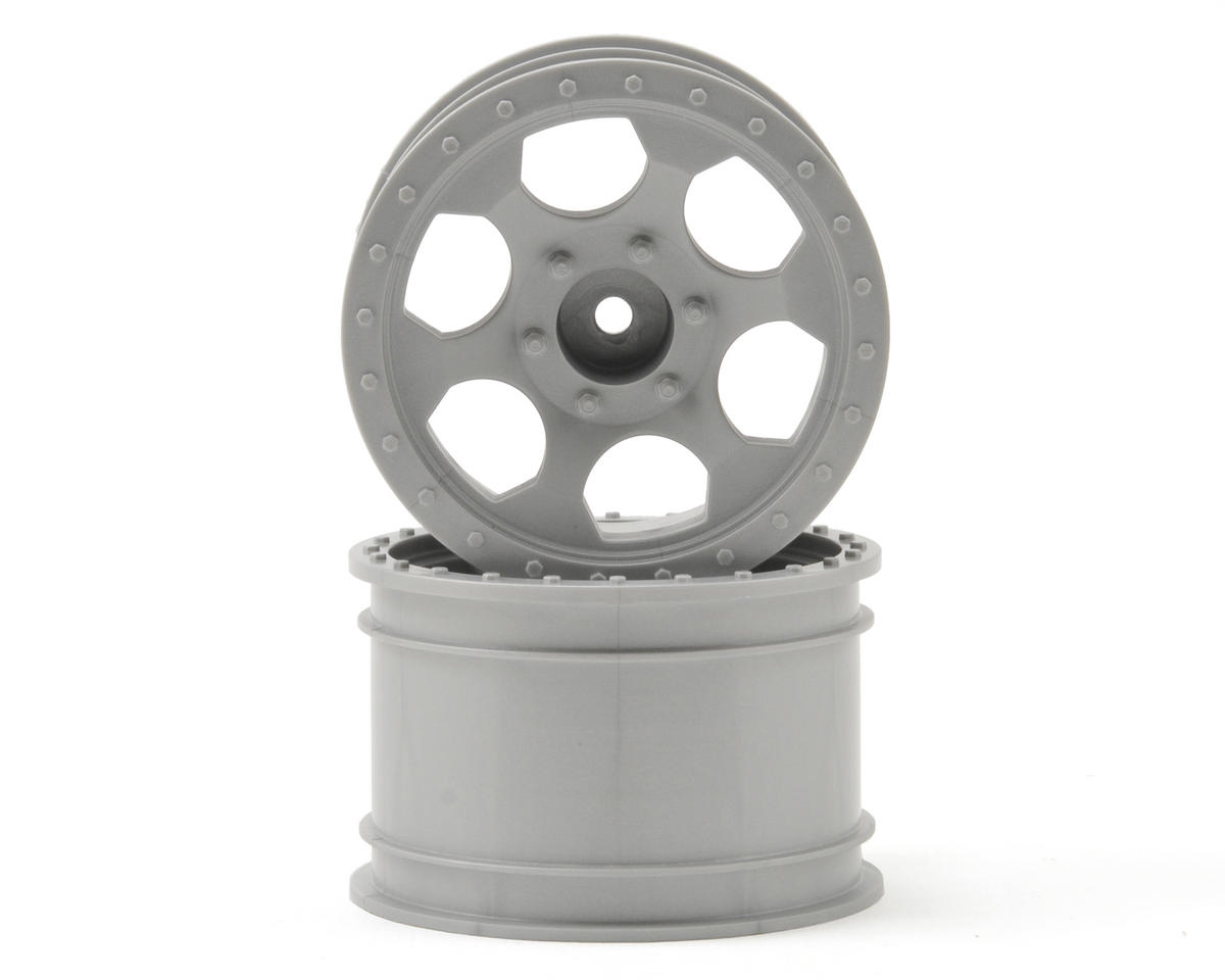 DE Racing Trinidad MT Wheels (2) (1/16 E-Revo) (Silver)