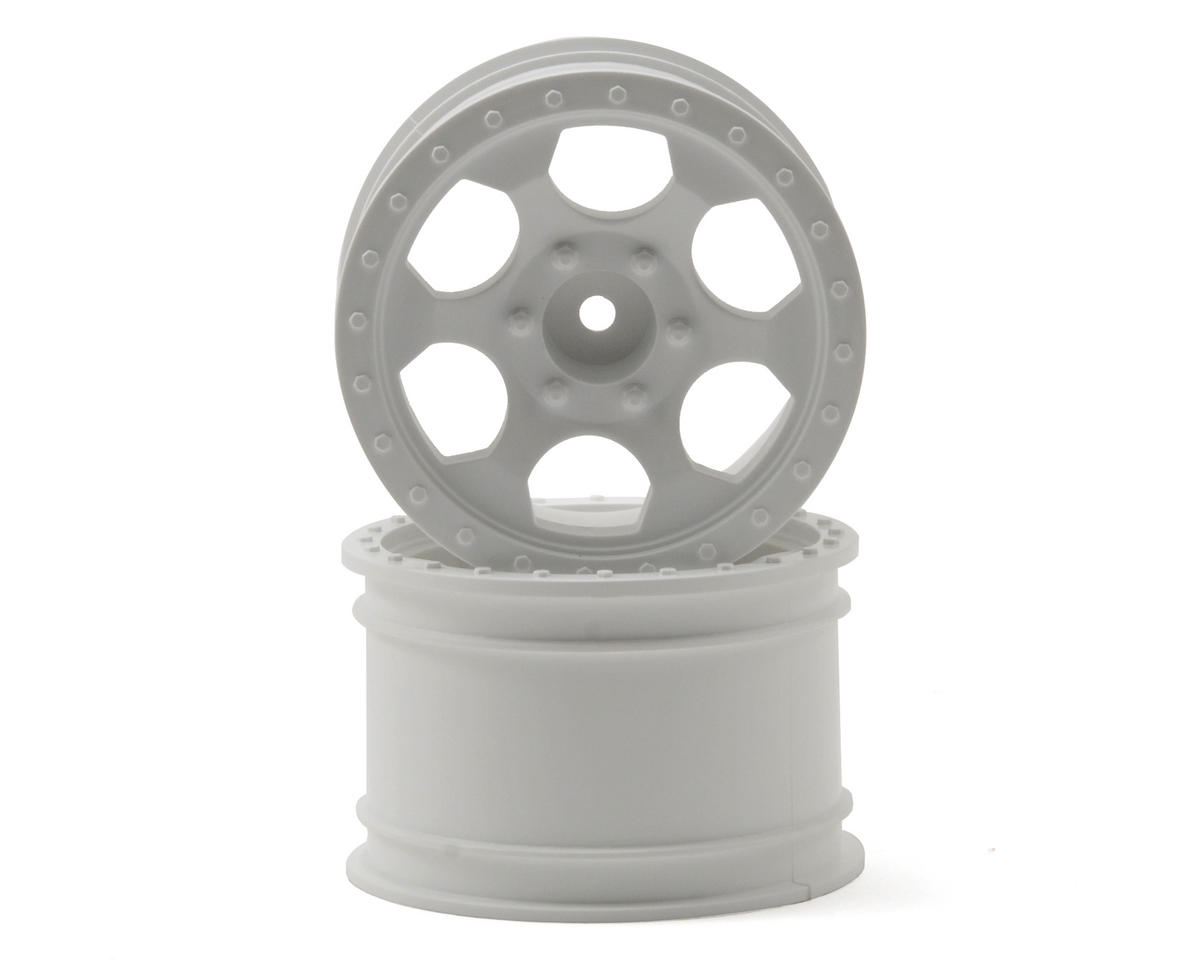 Trinidad MT Wheels (2) (1/16 E-Revo) (White) by DE Racing