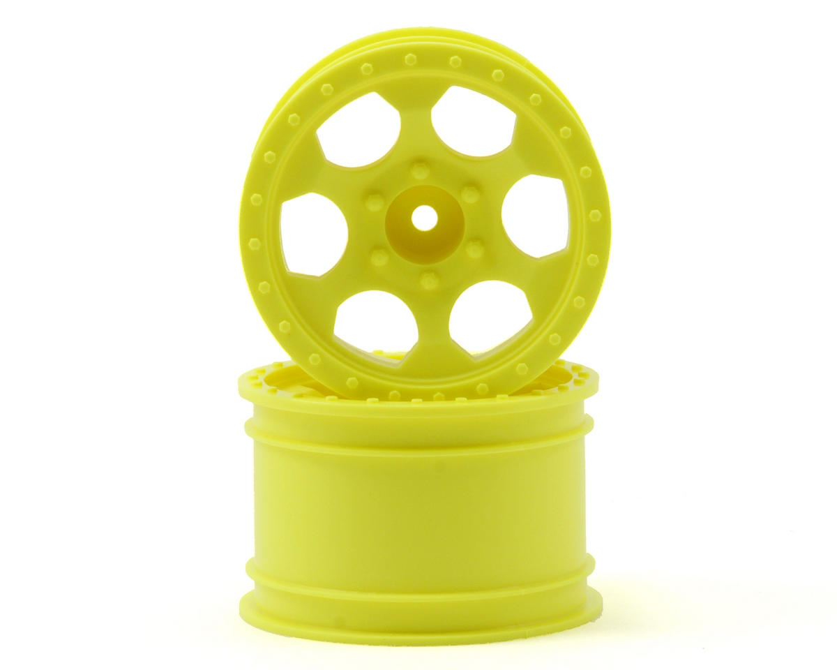 DE Racing Trinidad MT Wheels (2) (Traxxas 1/16 E-Revo) (Yellow)