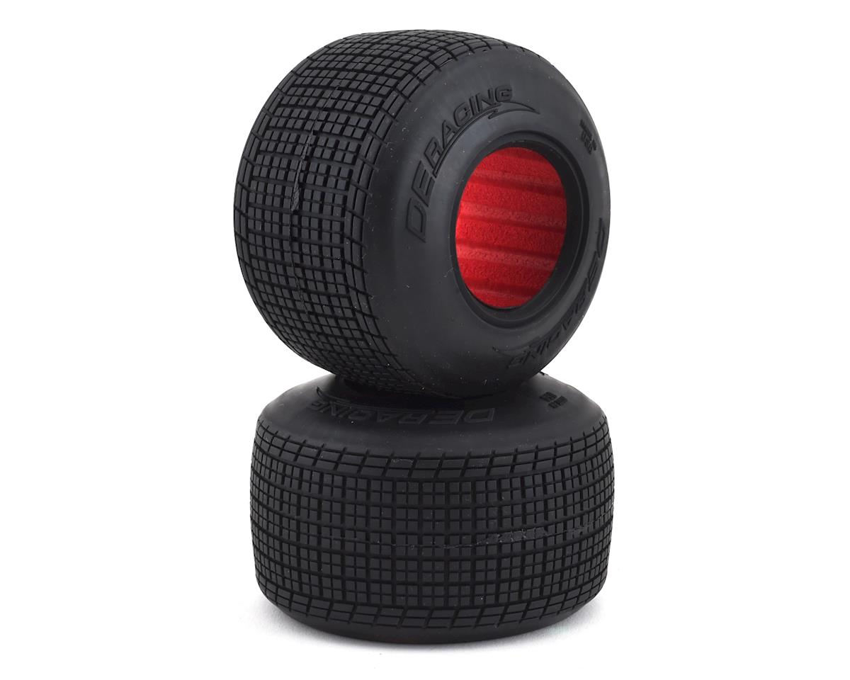 DE Racing Outlaw Sprint HB Dirt Oval Rear Tires w/Red Insert (2) (D30)