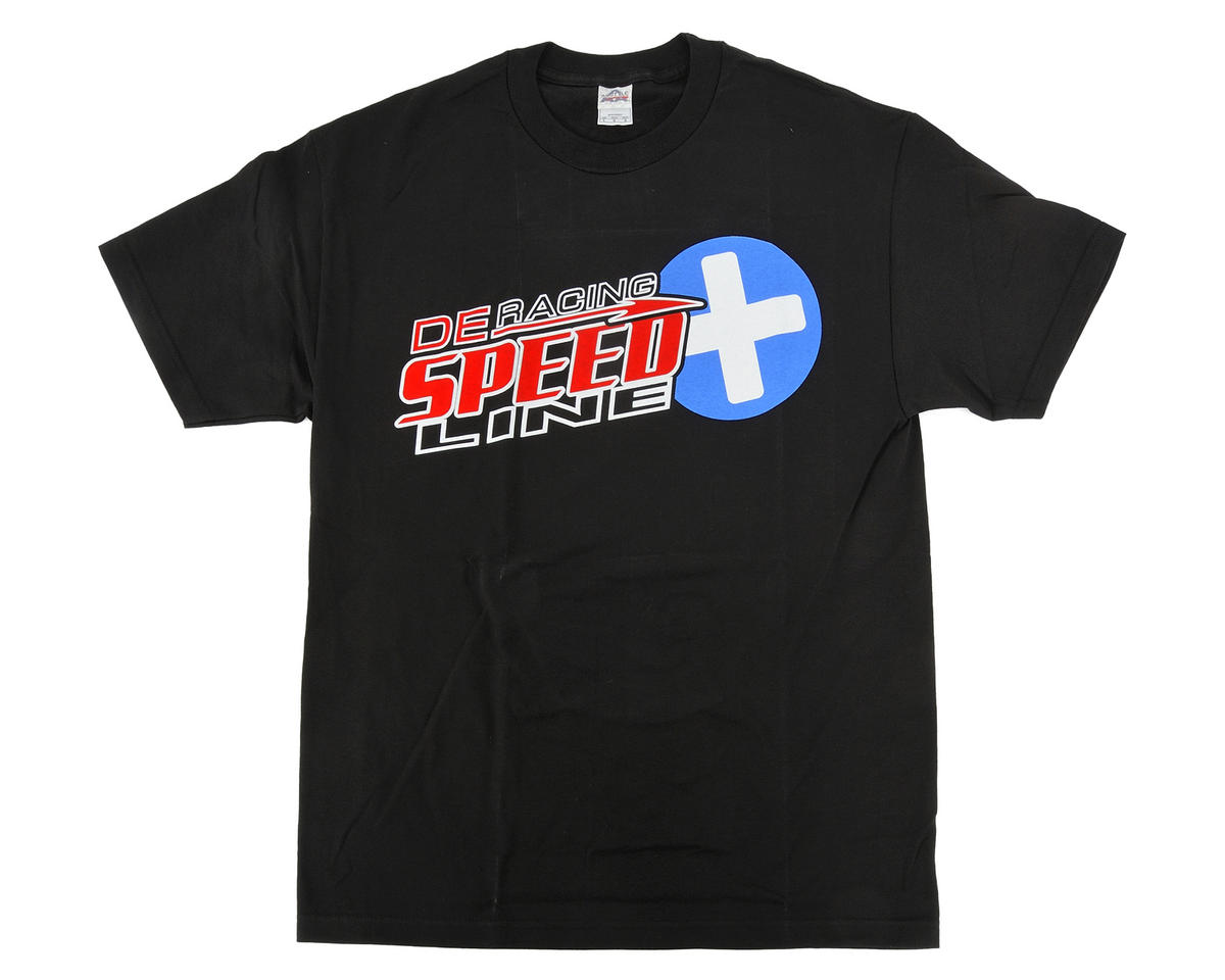 "DE Racing ""SpeedLine PLUS"" T-Shirt (Black) (L)"