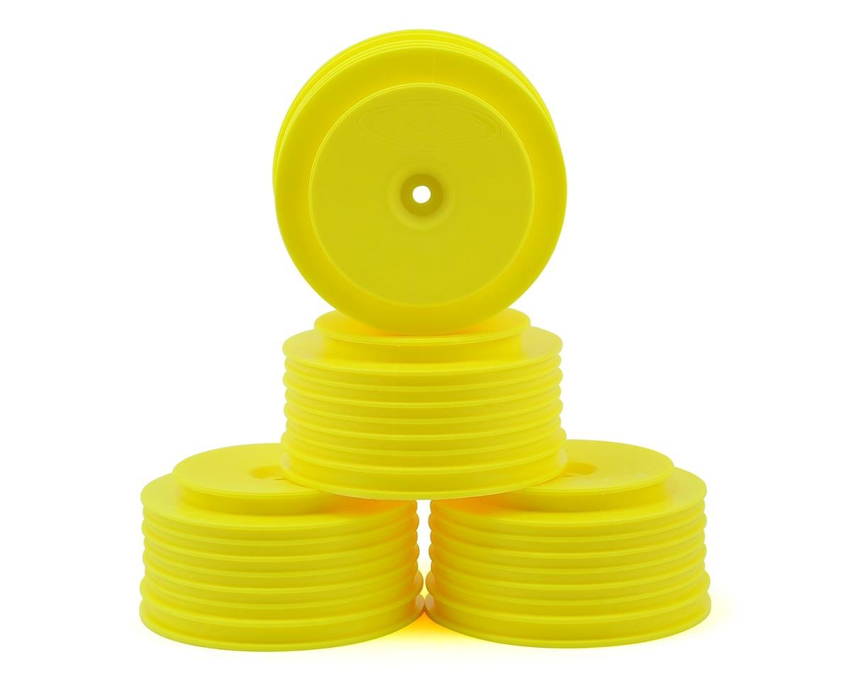 "DE Racing 12mm Hex ""Speedline PLUS"" Short Course Wheels (Yellow) (4) (SC5M) (Team Associated SC10B)"
