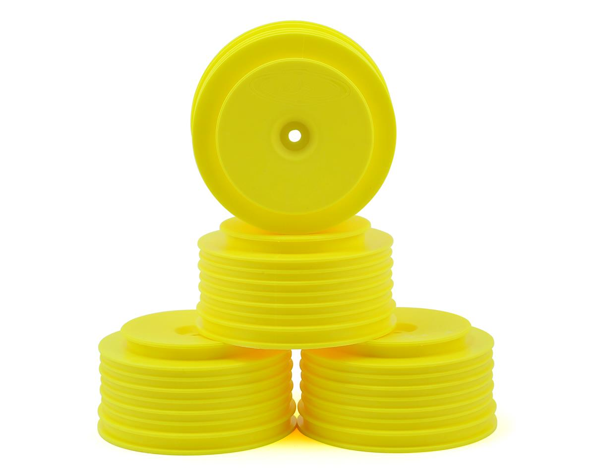 "DE Racing 12mm Hex ""Speedline PLUS"" Short Course Wheels (Yellow) (4) (SC5M) (Team Associated SC10.2)"
