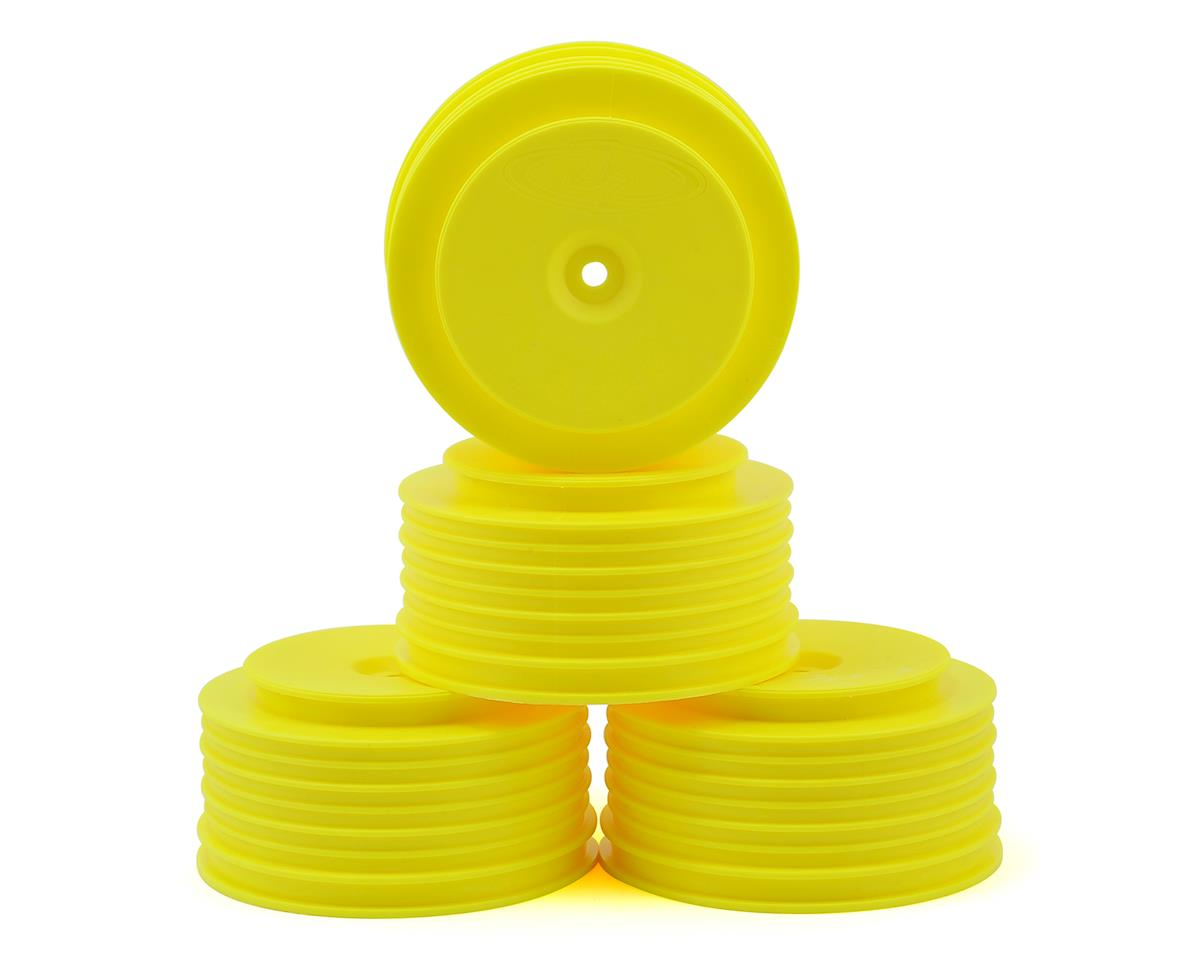 DE Racing Speedline PLUS Short Course Wheels (Yellow) (4) (Losi TEN-SCTE 3.0)