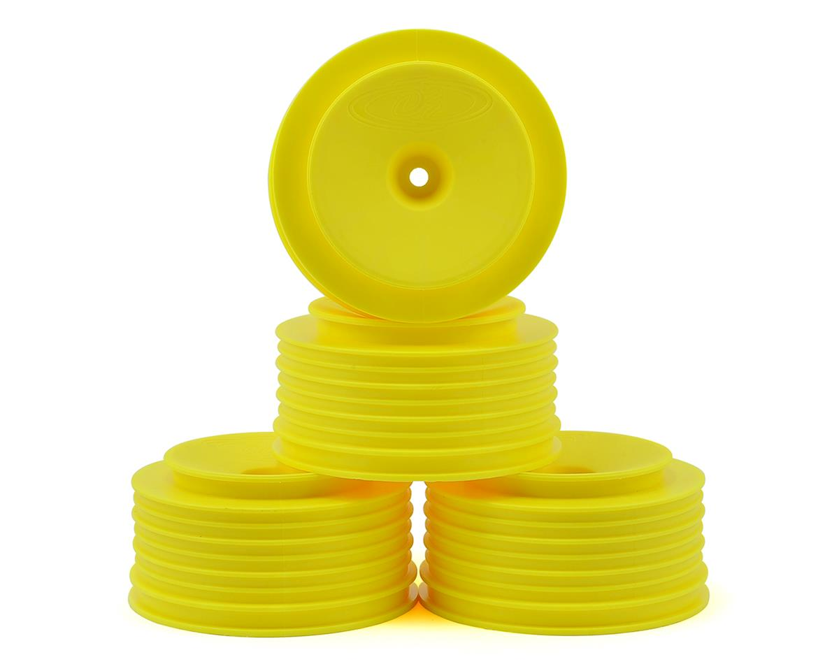 DE Racing Speedline PLUS Short Course Wheels (Yellow) (4) (SC6/Slash/Blitz) (Traxxas Rally)
