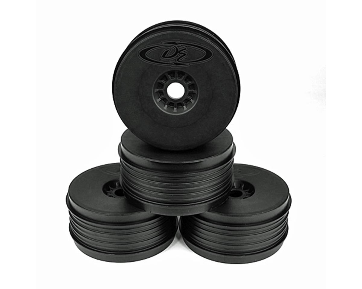 """SpeedLine PLUS"" 1/8 Buggy Wheel (4) (Black) by DE Racing"
