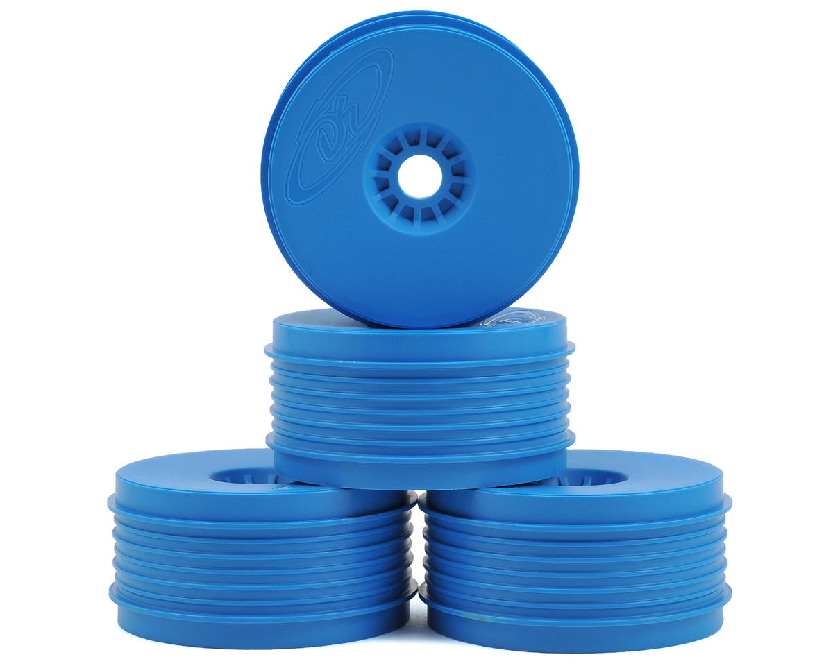 """SpeedLine PLUS"" 1/8 Buggy Wheel (4) (Blue) by DE Racing"