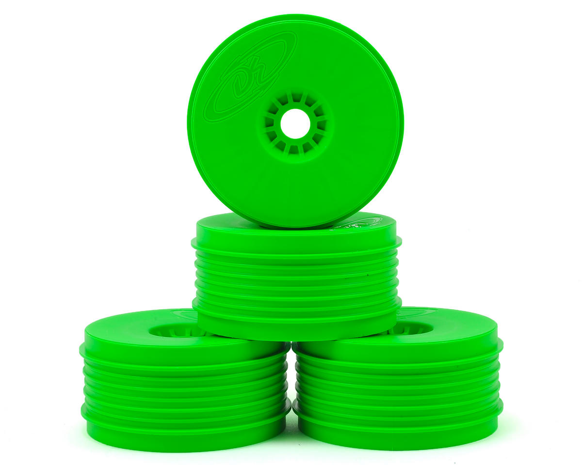 """SpeedLine PLUS"" 1/8 Buggy Wheel (4) (Green) by DE Racing"