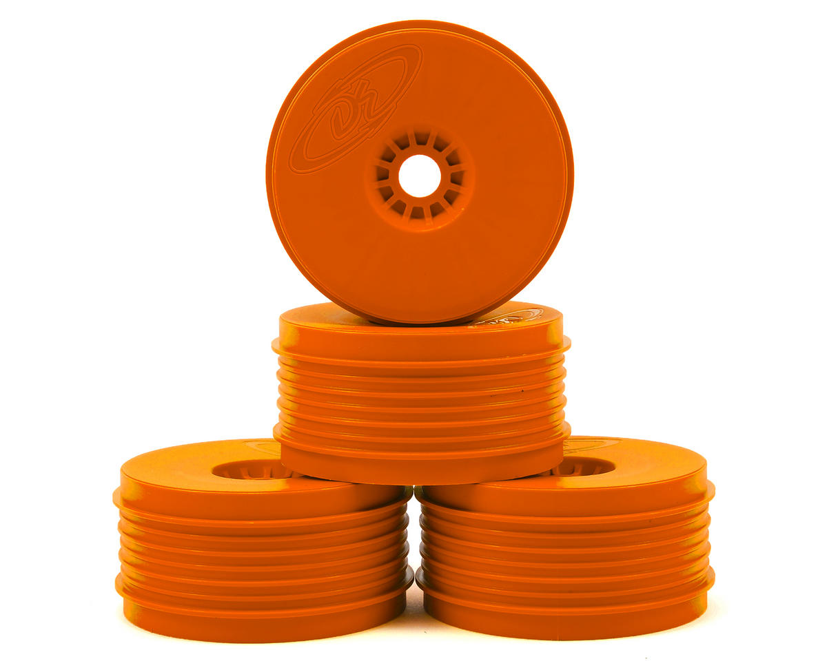 """SpeedLine PLUS"" 1/8 Buggy Wheel (4) (Orange) by DE Racing"