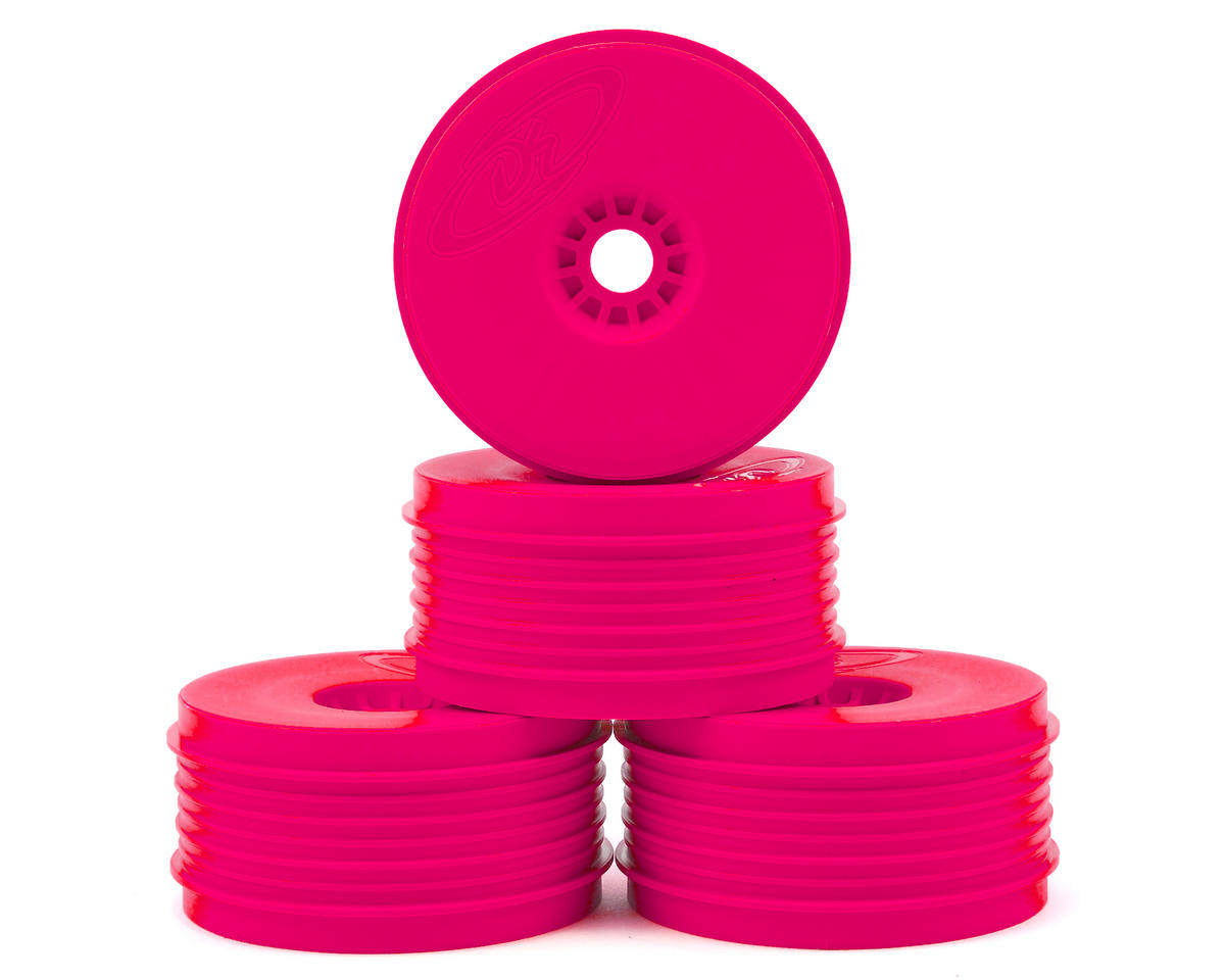 "DE Racing ""SpeedLine PLUS"" 1/8 Buggy Wheel (4) (Pink) 