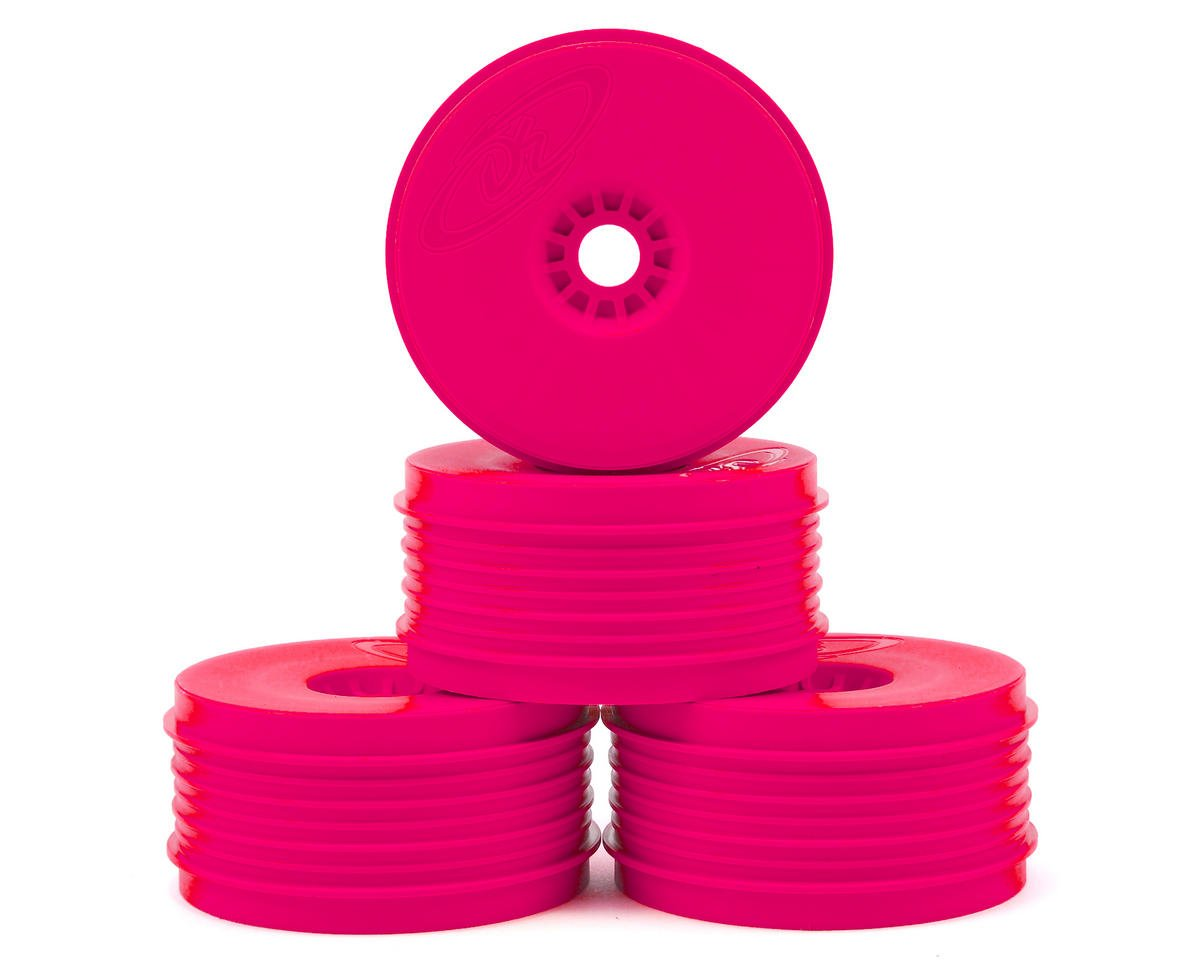 """SpeedLine PLUS"" 1/8 Buggy Wheel (4) (Pink) by DE Racing"