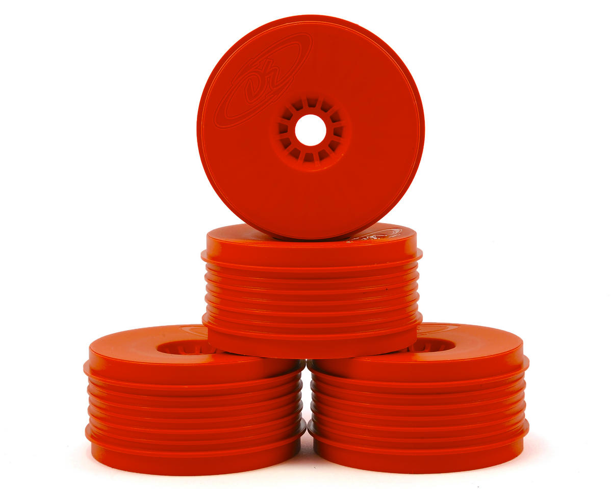 """SpeedLine PLUS"" 1/8 Buggy Wheel (4) (Red) by DE Racing"