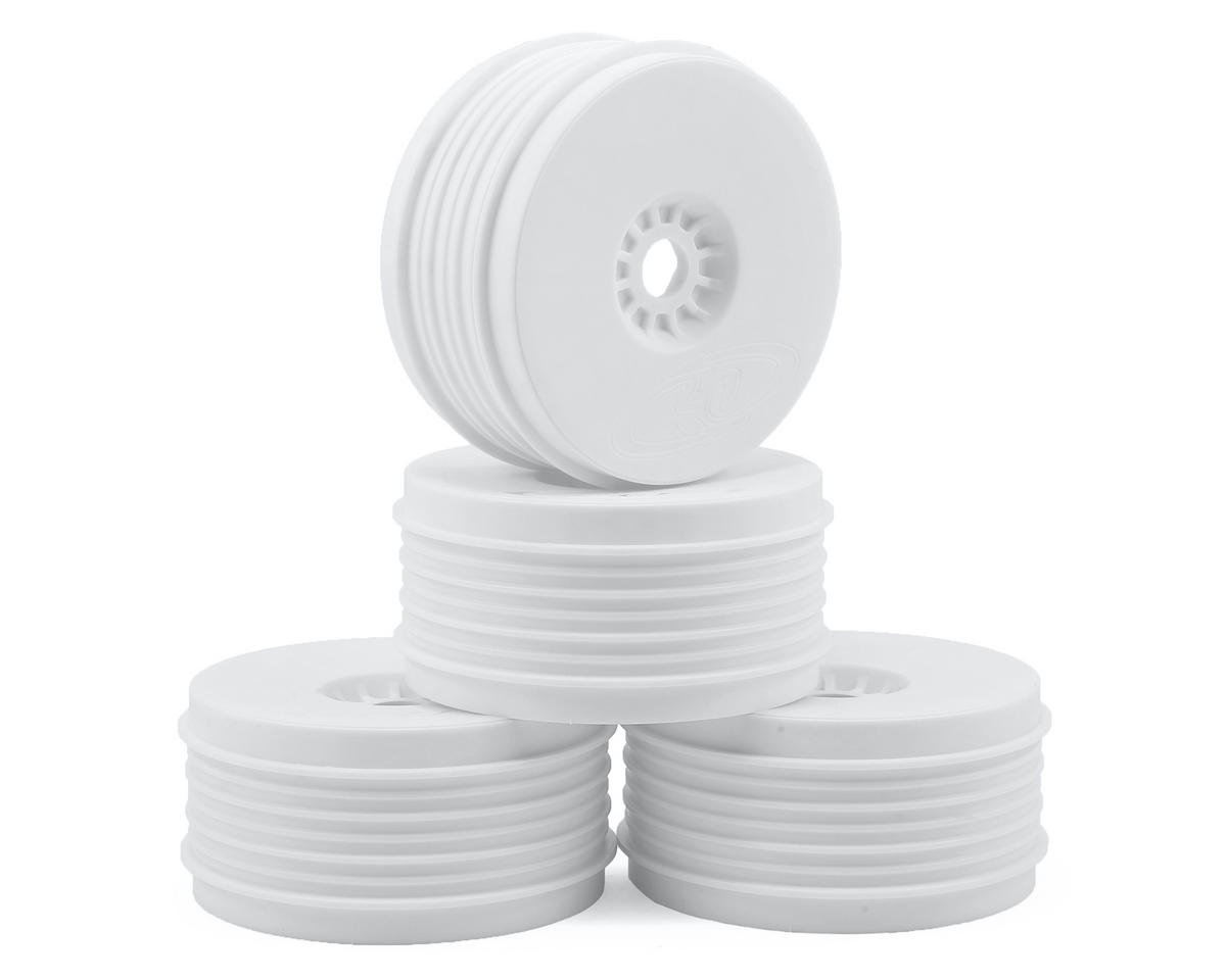 """SpeedLine PLUS"" 1/8 Buggy Wheel (4) (White) by DE Racing"