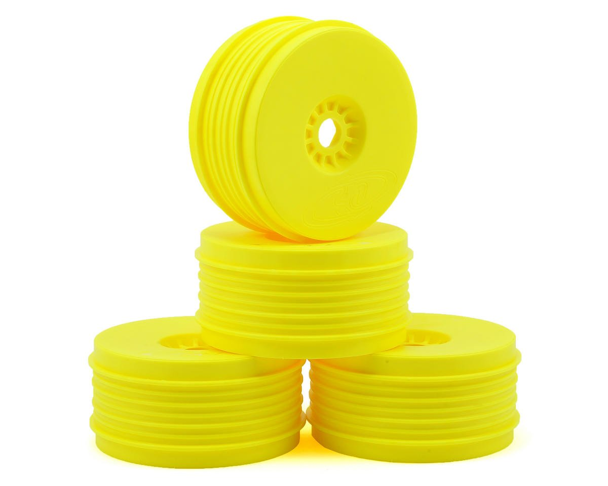 """SpeedLine PLUS"" 1/8 Buggy Wheel (4) (Yellow) by DE Racing"