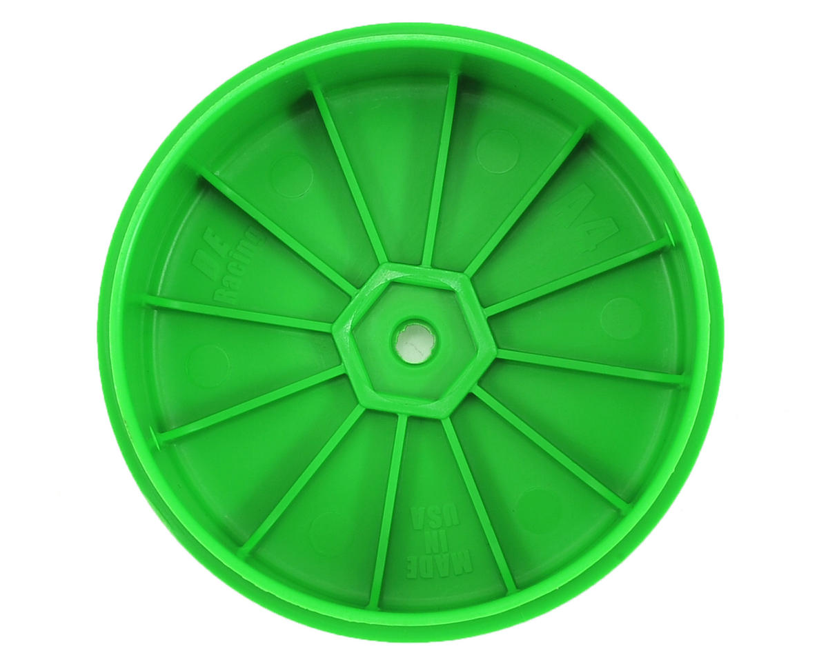 DE Racing Speedline PLUS 2.4 4WD Front Buggy Wheel (2) (Green)
