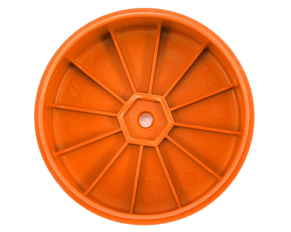 DE Racing Speedline PLUS 2.4 4WD Front Buggy Wheel (2) (Orange)