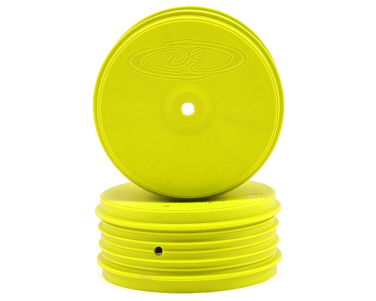 DE Racing Speedline PLUS 2.4 4WD Front Buggy Wheel (2) (Yellow)