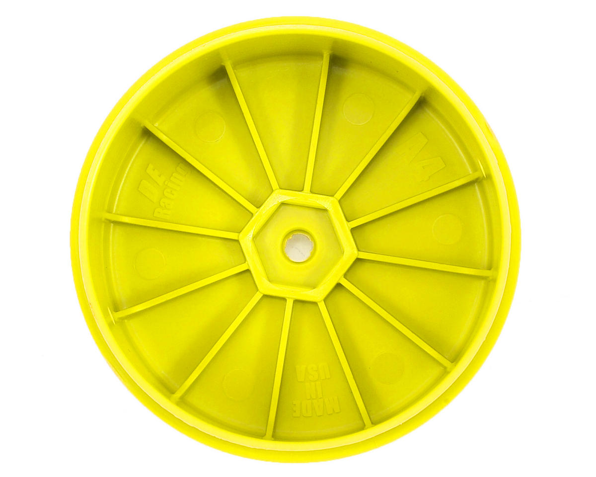 DE Racing Speedline PLUS 2.4 4WD Front Buggy Wheel (2) (Yellow)