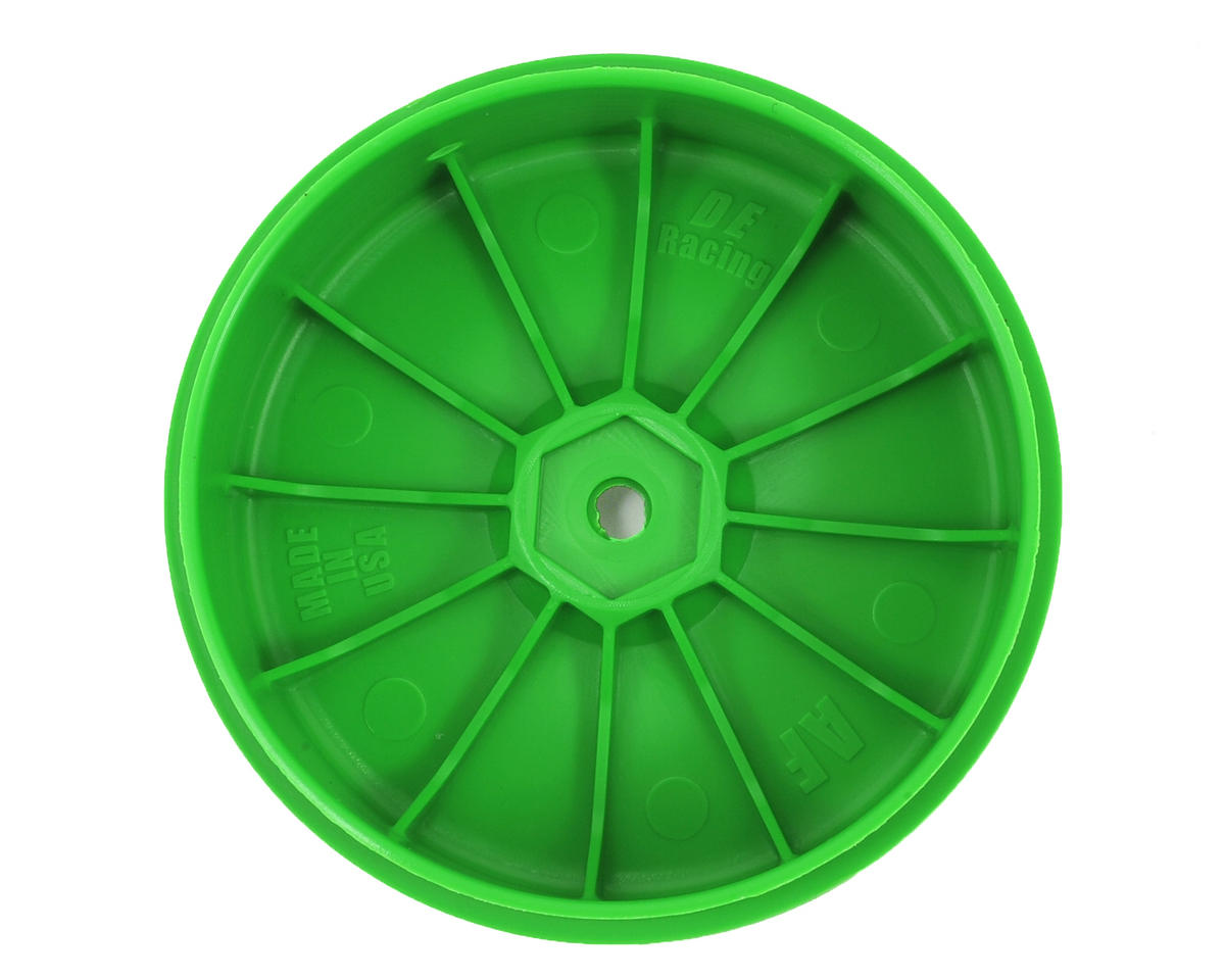 DE Racing Speedline PLUS 2.4 1/10 Buggy Front Wheel (2) (Green)