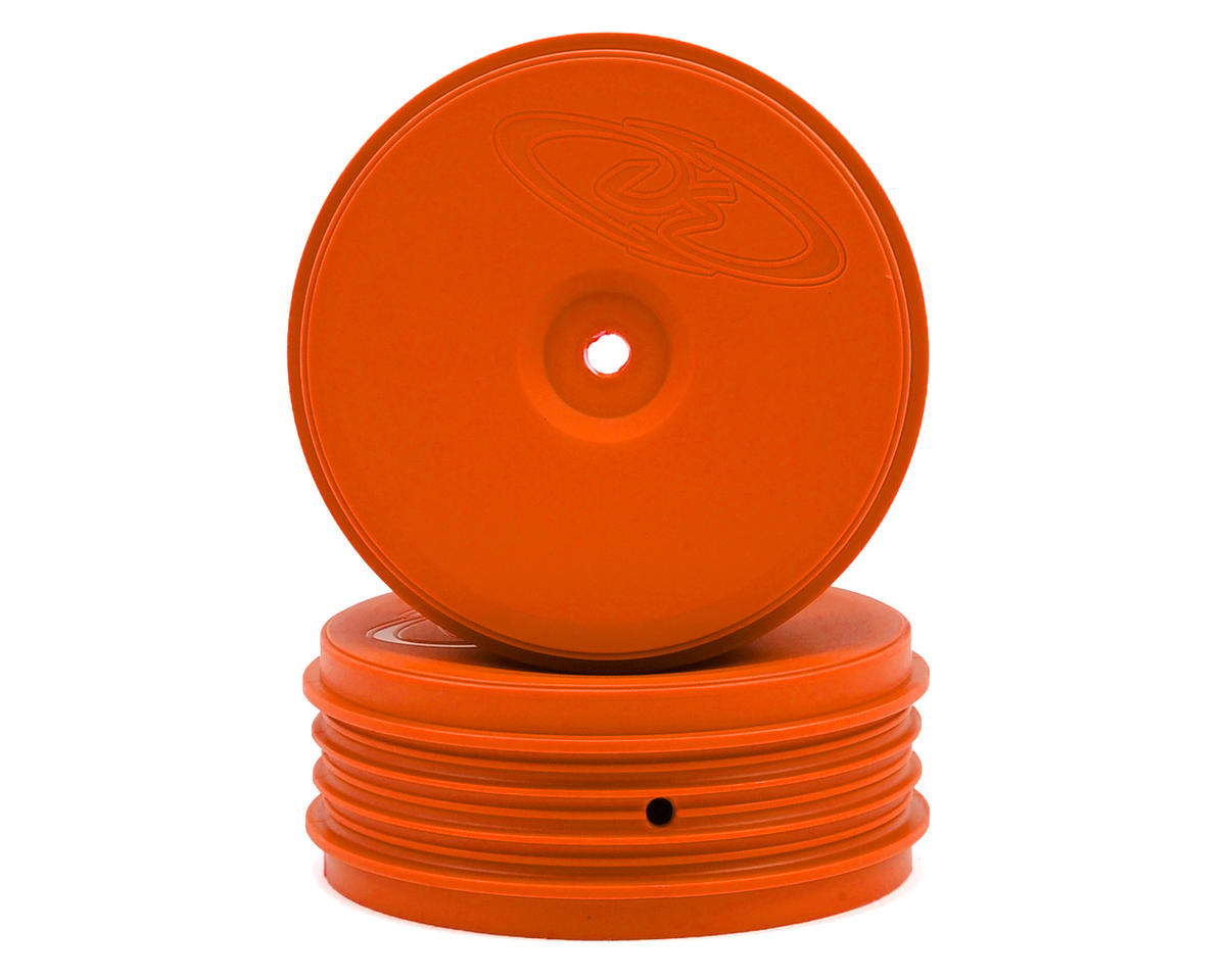 DE Racing Speedline PLUS 2.4 1/10 Buggy Front Wheel (2) (Orange)